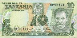 10 Shilingi TANZANIE  1978 P.06a SUP+