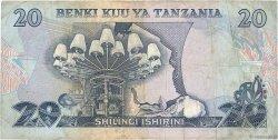 20 Shilingi TANZANIE  1978 P.07a TB
