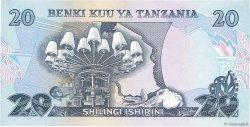 20 Shilingi TANZANIE  1978 P.07a pr.SUP
