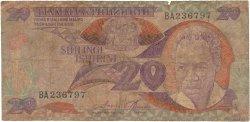 20 Shilingi TANZANIE  1985 P.09 pr.B