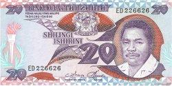 20 Shilingi TANZANIE  1986 P.12 SUP