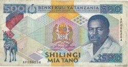 500 Shilingi TANZANIE  1989 P.21a TB