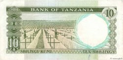 10 Shillings TANZANIE  1966 P.02b TTB
