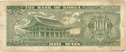 100 Won CORÉE DU SUD  1964 P.35c B