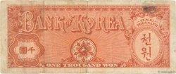 1000 Won CORÉE DU SUD  1953 P.15a TB
