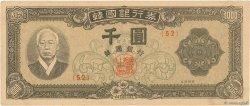 1000 Won CORÉE DU SUD  1953 P.10b TTB
