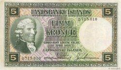 5 Kronur ISLANDE  1956 P.32a TTB