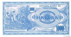 1000 Denari MACÉDOINE  1992 P.06a NEUF