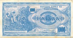 1000 Denari MACÉDOINE  1992 P.06a B