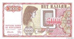 5000 Denari MACÉDOINE  1992 P.07a NEUF