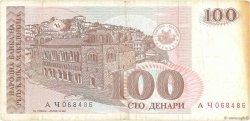 100 Denari MACÉDOINE  1993 P.12a TB