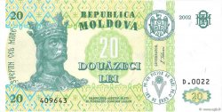 20 Lei MOLDAVIE  2002 P.13e
