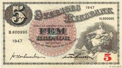 5 Kronor SUÈDE  1947 P.33ad TTB+