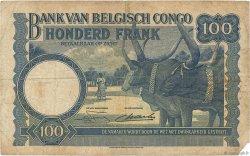 100 Francs CONGO BELGE  1949 P.17d pr.TB