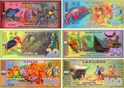 Lot de 6 billets Equatorial Francs LOTS  2014 P.- NEUF