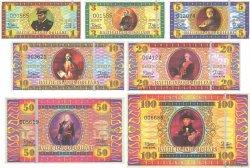 Lot de 7 billets Dollars LOTS  2007 P.- NEUF