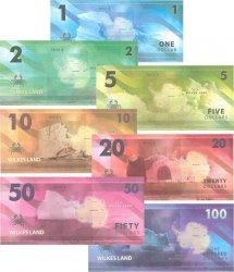 Lot de 7 billets Dollars ANTARCTICA  2014 P.- NEUF