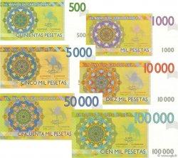 Lot de 6 billets Pesetas LOTS  2014 P.- NEUF