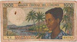 1000 Francs COMORES  1984 P.11a pr.B