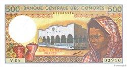 500 Francs COMORES  1994 P.10b pr.NEUF