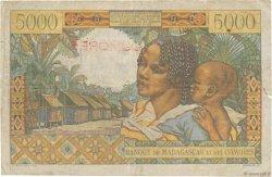 5000 Francs COMORES  1960 P.06a TB