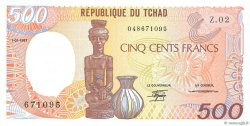 500 Francs type 1984 TCHAD  1987 P.09b NEUF