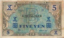 5 Yen JAPON  1945 P.069a pr.TB