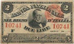 2 Lire ITALIE  1866 PS.732 pr.TTB