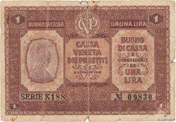 1 Lira ITALIE  1918 PM.04 B