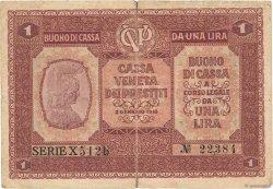 1 Lira ITALIE  1918 PM.04 TB