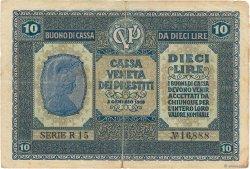 10 Lire ITALIE  1918 PM.06 TB