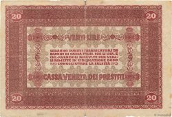 20 Lire ITALIE  1918 PM.07 TB