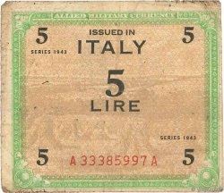 5 Lire ITALIE  1943 PM.12a B