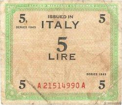 5 Lire ITALIE  1943 PM.12b B