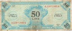 50 Lire ITALIE  1943 PM.14a B