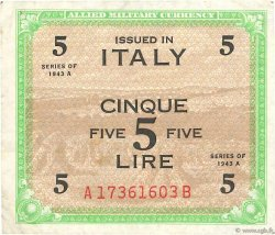 5 Lire ITALIE  1943 PM.18b TTB