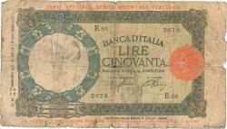 50 Lire AFRIQUE DE LEST ITALIENNE  1938 P.1a pr.B