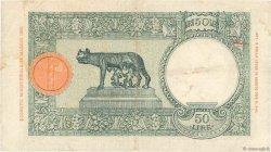 50 Lire ITALIE  1939 P.01b TTB