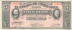5 Pesos MEXIQUE  1915 PS.0532a TTB+