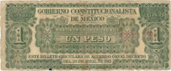 1 Peso MEXIQUE Monclova 1913 PS.0626 B
