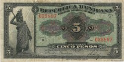 5 Pesos MEXIQUE  1915 PS.0685a TB