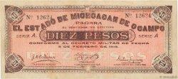 10 Pesos MEXIQUE  1915 PS.0883a TTB+