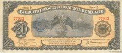 20 Pesos MEXIQUE  1914 PS.0526 pr.TTB