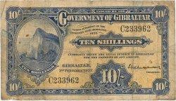 10 Shillings GIBRALTAR  1937 P.14a B