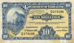 10 Shillings GIBRALTAR  1958 P.17 TB