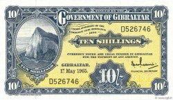 10 Shillings GIBRALTAR  1965 P.17 NEUF