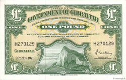 1 Pound GIBRALTAR  1971 P.18b SPL