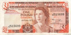 1 Pound GIBRALTAR  1975 P.20a TB