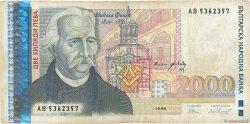 2000 Leva BULGARIE  1996 P.107b TB