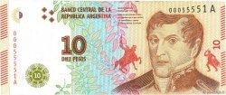 10 Pesos ARGENTINE  2016 P.New NEUF